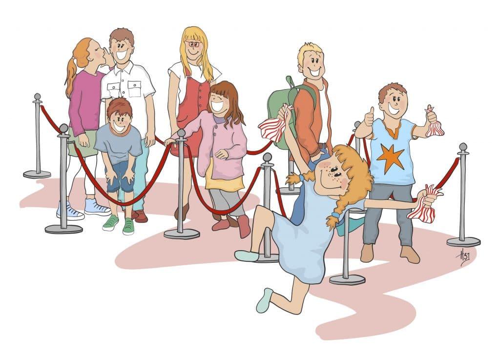 Illustration til Aalborg Filmklub tegnet af Tegnestuen helleforhelle