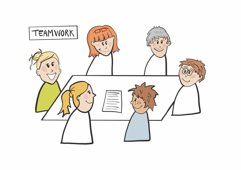 Autismecenter Nord-Bo - Teamwork tegnet af Tegnestuen helleforhelle.dk