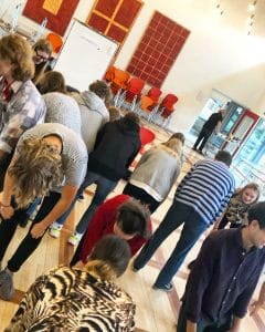 Elevrådet på Skive Gymnasium med Tegnestuen helleforhelle
