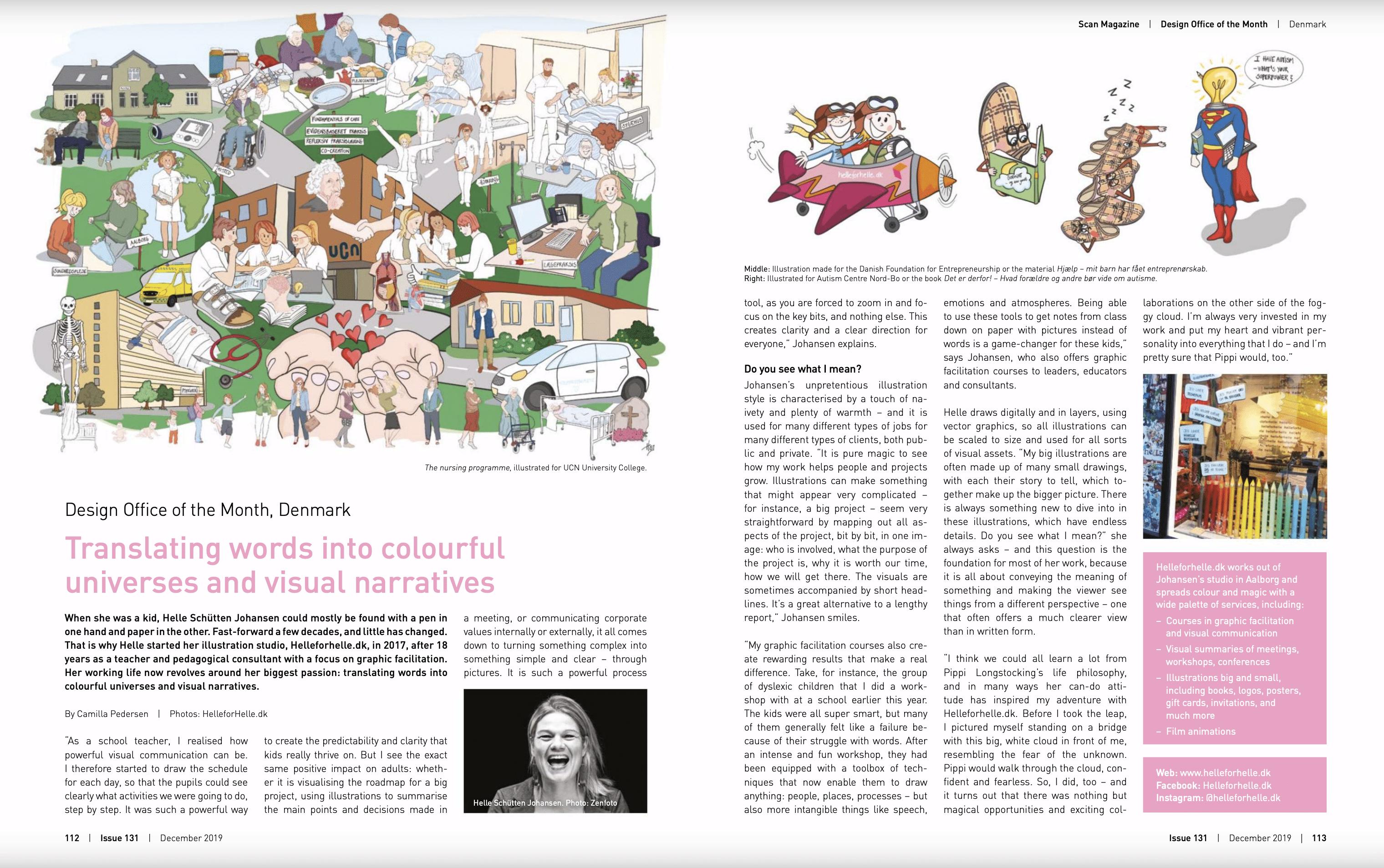 Scan Magazine har skrevet den fineste artikel om Tegnestuen helleforhelle