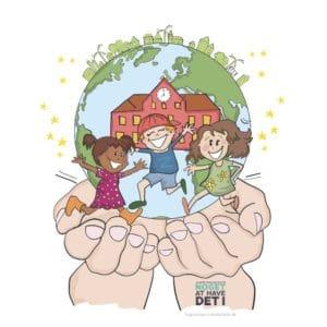 Illustration udarbejdet for Skoleforvaltningen, Aalborg Kommune tegnet af Tegnestuen helleforhelle